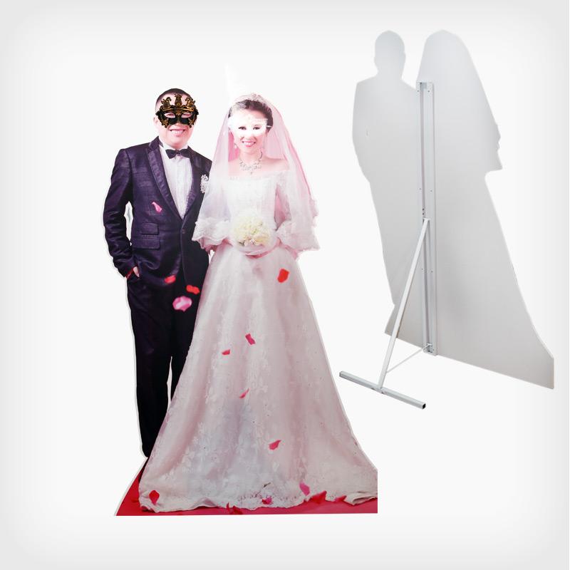 结婚人像 定制kt板人像人型异形人像展示立牌kt泡沫板展架模特拍照立图片